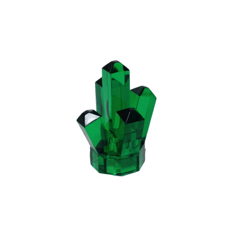 "Lego Parts: Rock 1 x 1 Crystal ""5 Point"" (Transparent Green)"