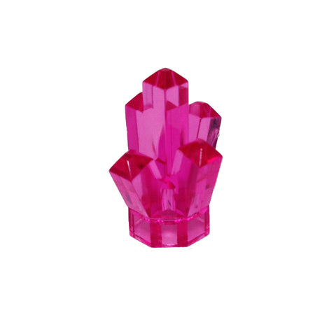 "Lego Parts: Rock 1 x 1 Crystal ""5 Point"" (Trans. Dark Pink)"