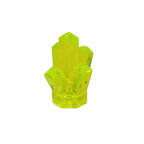 "Lego Parts: Rock 1 x 1 Crystal ""5 Point"" (Transparent Neon Green)"