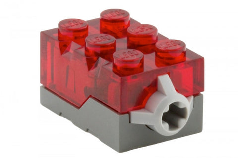 Lego Parts: Electric, Light Brick 2 x 3 x 1 1/3 Red LED Light (Trans. Red)