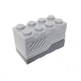 Lego Parts: Electric, Sound Brick 2 x 4 x 2 with Light Bluish Gray Top and Roaring Animal Sound (Set 4958)