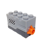 Lego Parts: Electric, Sound Brick 2 x 4 x 2 with Light Bluish Gray Top and Doorbell then Dog Bark Sound (From Set #5771)