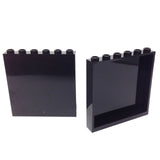 Lego Parts: Panel 1 x 6 x 5 (PACK of 2 - Black)