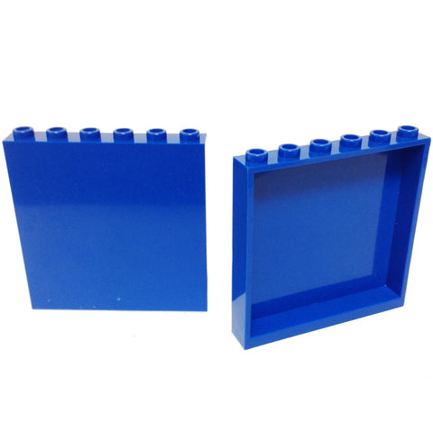 Lego Parts: Panel 1 x 6 x 5 (PACK of 2 - Blue)