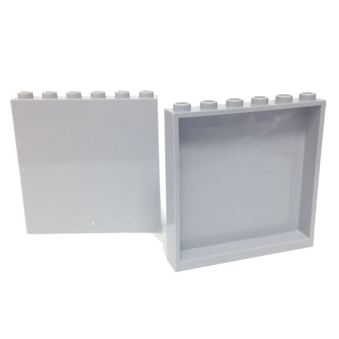 Lego Parts: Panel 1 x 6 x 5 (PACK of 2 - LBGray)