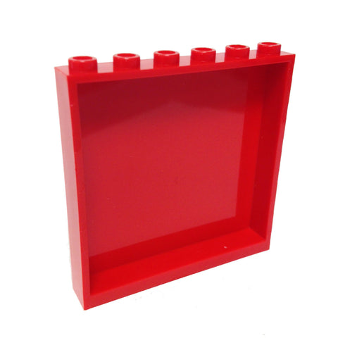 Lego Parts: Panel 1 x 6 x 5 (Red)