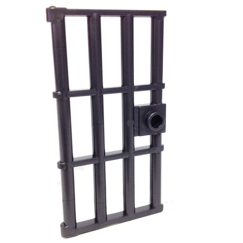Lego Parts: Door 1 x 4 x 6 Barred with Stud Handle (Pearl Dark Gray)