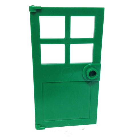Lego Parts: Door 1 x 4 x 6 with 4 Panes and Stud Handle (Green)