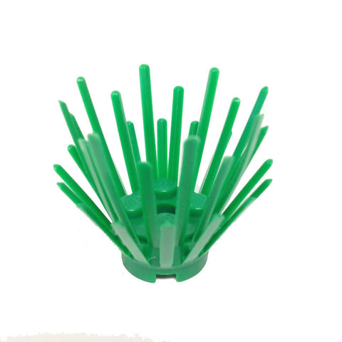 Lego Parts: Plant Prickly Bush 2 x 2 x 3 Extension with 2 x 2 center (Green)