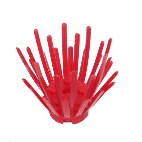 Lego Parts: Plant Prickly Bush 2 x 2 x 3 Extension with 2 x 2 center (Red)