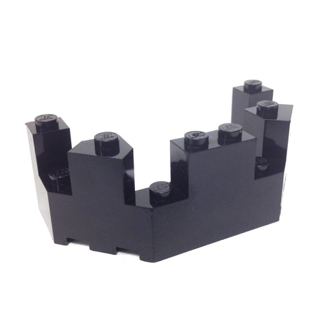 Lego Parts: Roof - Castle Turret Top 4 x 8 x 2 1/3 (Black)
