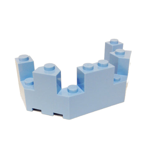 Lego Parts: Roof - Castle Turret Top 4 x 8 x 2 1/3 (Bright Light Blue)
