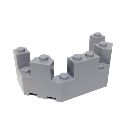Lego Parts: Roof - Castle Turret Top 4 x 8 x 2 1/3 (Light Bluish Gray)