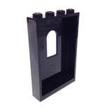 Lego Parts: Panel 1 x 4 x 5 with Window (Black)