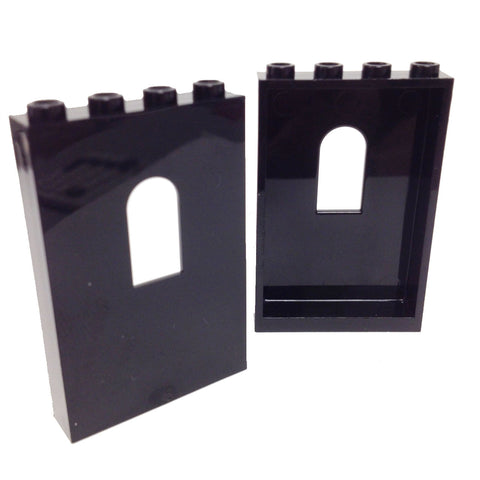 Lego Parts: Panel 1 x 4 x 5 with Window (PACK of 2 - Black)