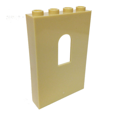 Lego Parts: Panel 1 x 4 x 5 with Window (Tan)