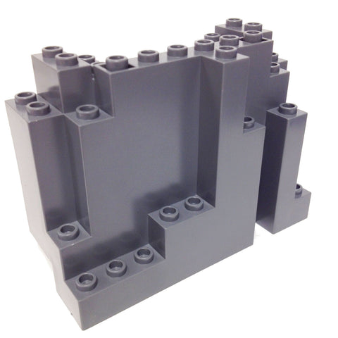 Lego Parts: Rock Panel Rectangular (BURP) (DBGray)