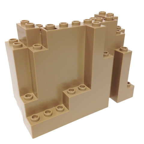 Lego Parts: Rock Panel Rectangular (BURP) (Dark Tan)
