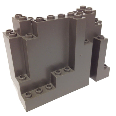 Lego Parts: Rock Panel Rectangular (BURP) (Old Dark Gray)