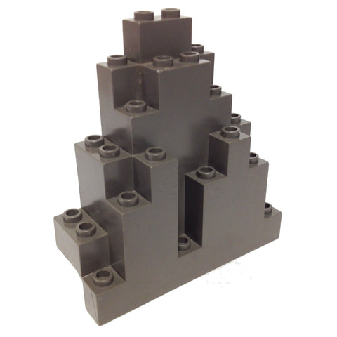 Lego Parts: Rock Panel Triangular (LURP) (Old Dark Gray)