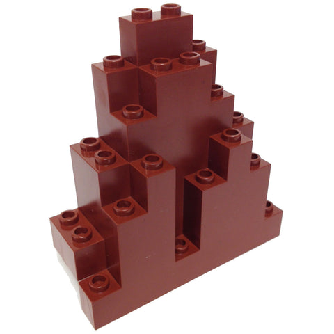 Lego Parts: Rock Panel Triangular (LURP) (Reddish Brown)