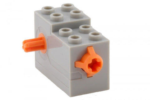 Lego Parts: Wind-Up Motor 2 x 4 x 2 1/3 with Orange Release Button (LBGray)