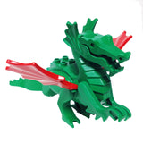 "MinifigurePacks: Lego Castle - Dragon Knights ""CLASSIC DRAGON - Complete Assembly with Red Wings"""