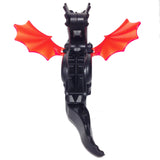 "MinifigurePacks: Lego Castle - Fright Knights ""CLASSIC DRAGON - Complete Assembly with Trans-Neon Orange Wings"""