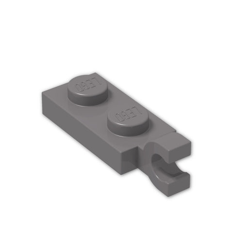 Lego Parts: Plate, Modified 1 x 2 with Clip Horizontal on End (Pack of 8pcs) (63868 / 4581225)