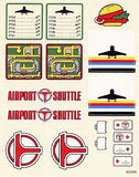 "Lego Classic Town Set #6399 ""Airport Shuttle"" Sticker Sheet (163555)"