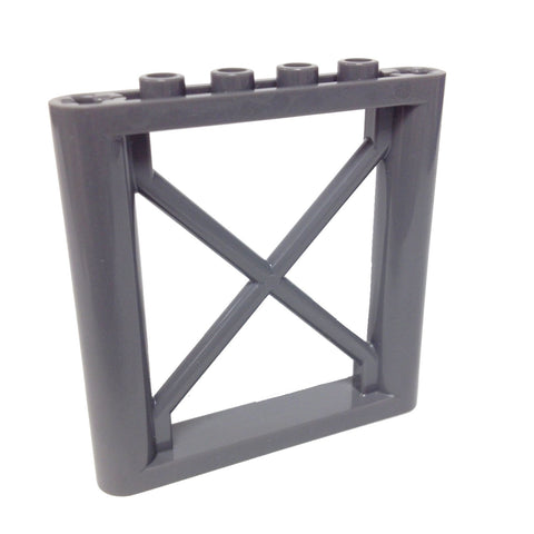 Lego Parts: Support 1 x 6 x 5 Girder Rectangular (DBGray)
