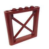 Lego Parts: Support 1 x 6 x 5 Girder Rectangular (Reddish Brown)