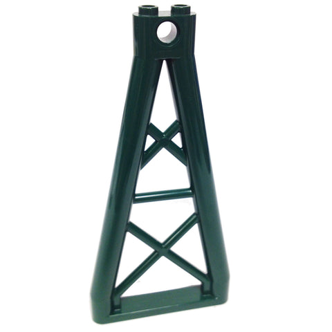 Lego Parts: Support 1 x 6 x 10 Girder Triangular (Dark Green)