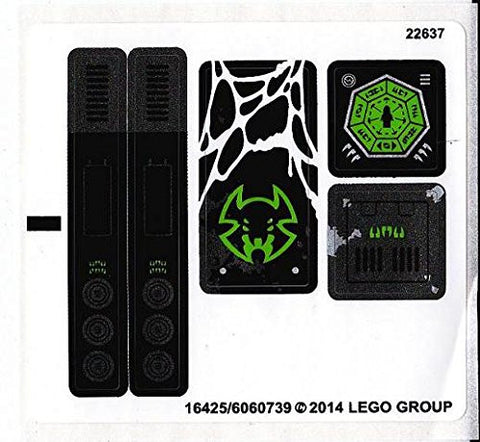 "Lego® Chima Set #70130 ""Sparratus' Spider Stalker"" Sticker Sheet"