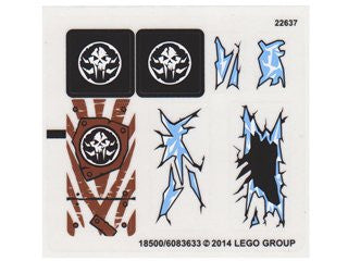 "Lego® Chima Set #70147 ""Sir Fangar's Ice Fortress"" Sticker Sheet #2 (ICE)"