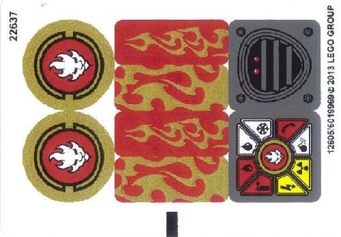 Lego ninjago set 70500 kais fire mech sticker sheet