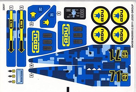 "Lego® Alien Conquest Set #7066 ""Earth Defense HQ"" Sticker Sheet #2"