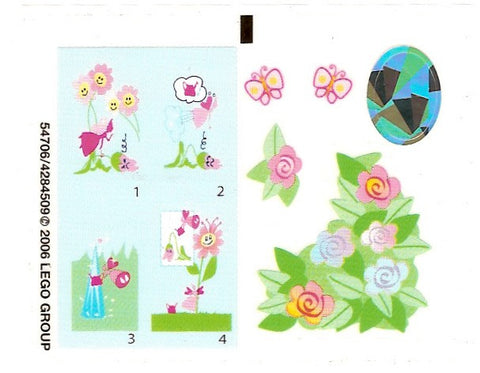 "Lego® Belville Set #7579 ""Blossom Fairy"" Sticker Sheet"