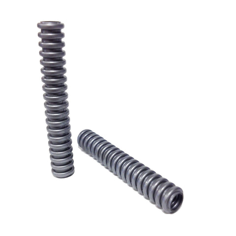 Lego Parts: Hose, Ribbed 7mm D. 6L (PACK of 2 - Flat Silver)