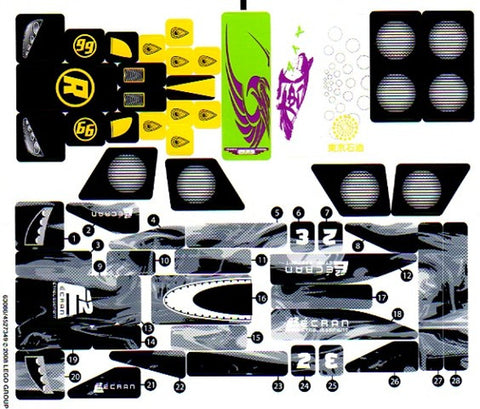 "Lego® Racers Set #8161 ""Grand Prix Race"" Sticker Sheet #2"