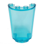 Lego Parts: Cylinder Half 2 x 4 x 5 with 1 x 2 Cutout (Transparent Light Blue)