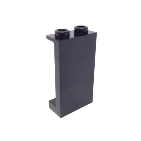 Lego Parts: Panel 1 x 2 x 3 with Side Supports - Hollow Studs (Black)