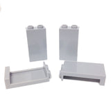Lego Parts: Panel 1 x 2 x 3 with Side Supports - Hollow Studs (PACK of 4 - LBGray)
