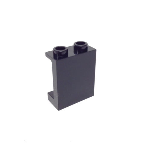 Lego Parts: Panel 1 x 2 x 2 with Side Supports - Hollow Studs (Black)