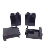 Lego Parts: Panel 1 x 2 x 2 with Side Supports - Hollow Studs (PACK of 4 - Black)
