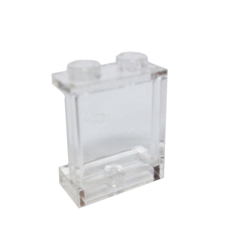 Lego Parts: Panel 1 x 2 x 2 with Side Supports - Hollow Studs (Transparent Clear)