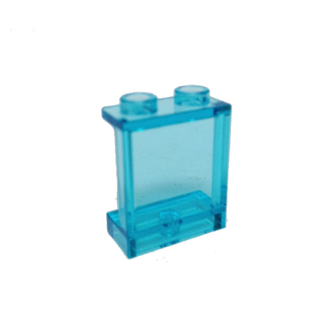 Lego Parts: Panel 1 x 2 x 2 with Side Supports - Hollow Studs (Transparent Light Blue)