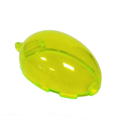 Lego Parts: Windscreen 6 x 4 x 2 1/3 Bubble Canopy with Handle (Transparent Neon Green)