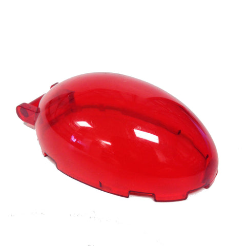 Lego Parts: Windscreen 6 x 4 x 2 1/3 Bubble Canopy with Handle (Transparent Red)