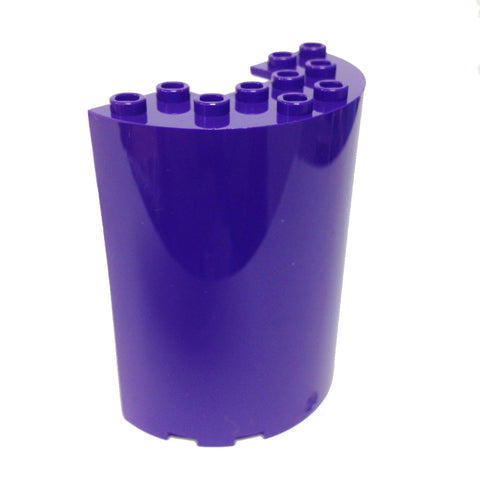 Lego Parts: Cylinder Half 3 x 6 x 6 with 1 x 2 Cutout (Dark Purple)